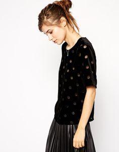 ASOS Devore Spot T-Shirt