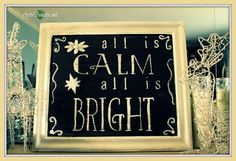 Canvas, chalkboard paint, chalk pen. Christmas Saying... change the saying once Christmas is over!