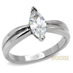 Womens High Polish Clear Cubic Zirconia Ring RI0T-05884