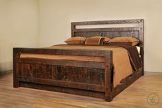 Amish handcrafted from kiln-dried hardwood the Lakemont Bed features a distressed look that is achieved through the use of rustic Rough Sawn Maple.