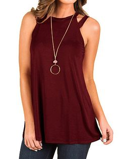 Sanyyanlsy Womens Soft and Light Sleeveless Round Neck to Help Cross Straps Chinese Knot Loose Comfortable Vest Top
