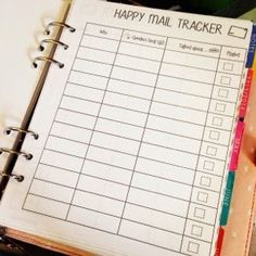 Happy Mail Tracker Free Printables - Wendaful