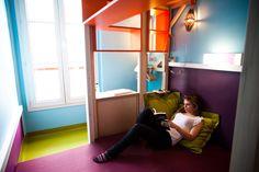 hi matic hotel paris by matali crasset: rooms