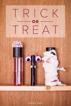 Don't let your makeup miss out on the Halloween fun. Dress them up in costumes for a decoration or a spooky gift! Make a princess using some double sided tape and a mini tiara, a monster with googly-eyes and paper fangs, or a mummy using tissue paper!