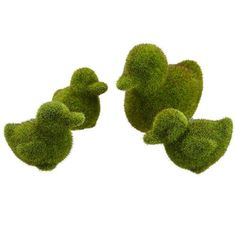 3'-5' Set Of Artificial Moss Covered Ducks -Green (pack of 2) ** For more information, visit image link.