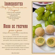 bombom de uva com brigadeiro branco do Chef Kadu Barros!