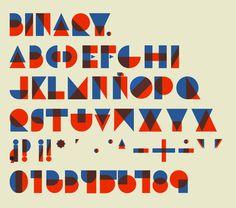 Binary type by MARÍA JOSÉ TORRERO HEREDIA, via Behance