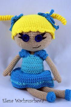 Puppen - Lalaloopsy Helga - ein Designerstück von Elena-Wachruschewa bei DaWanda ☆