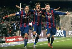Great victory of Barcelona against Atlético Madrid. Goals by Neymar, Suárez and Messi. Awesome photo.
