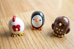 Kawaii Chibi Birds/Fowl - Polymer Clay Figurine (Made to Order)