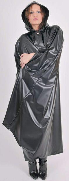 .plastic pvc cape