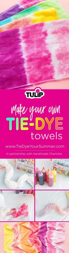 Tulip How To Tie Dye Towels Make A Tie, How To Tie Dye, Diy Crafts Videos, Craft Tutorials, Kid Crafts, Tulip Tie Dye, Craft Projects For Adults, Diy Projects, Tie Dying Techniques