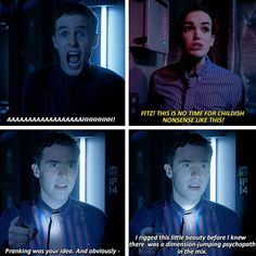 Fitzsimmons Season 1 - aw they were so young and innocent though Fitz's sass never changes <3