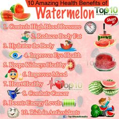 Ten health benefits from watermelon! Watermelon is one of our FAVORITE summer treats! Look at all these health benefits! Blood Sugar Diet, High Blood Sugar, Watermelon Health Benefits, Watermelon Nutrition, How To Control Sugar, Top 10 Home Remedies, Natural Remedies, Matcha Benefits, Fruit Benefits