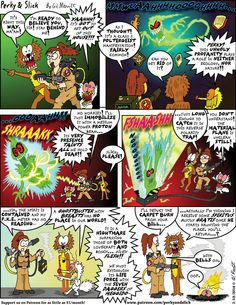 "The Gil-Monster: Perky & Slick 2015-2-10: ""Unholy Profanity""! Support this comic with a pledge as small as $1/month!"