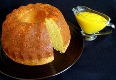 Mango-Coconut Pound Cake with Mango Cream sauce