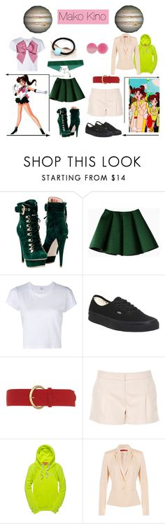 """Sailor Jupiter: Mako Kino"" by mya0nah21 on Polyvore featuring Structured Green, RE/DONE, Vans, Dorothy Perkins, Lanvin, Superdry and HUGO"