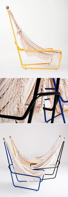 Poltrona Rede, de Maurício Arruda. #poltrona #chair #hammock