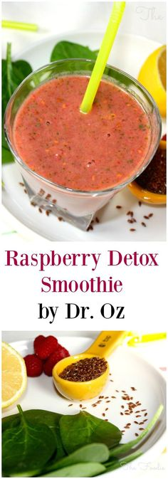 Give your body a nutritional boost with this Raspberry Detox Smoothie by blending up a delicious combination of fruits and greens!