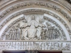 Vezelay Tympanum. The stylized bodies kill me every time.