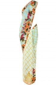 Hemant and Nandita Blue Mat Print Crepe Sari - Pernia's Pop-Up Shop