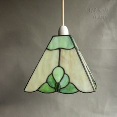 Vintage Beautiful Green Tiffany Style Stained Glass Table Lamp Shade FREE UK P&P