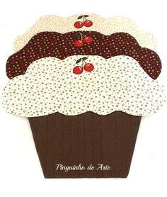 Pinguinho de Arte: Jogo Americano de Cupcake