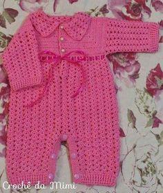 Crochet Patterns Jumpsuit Crochet Skirt for Baby – Part 1 – 'Mimi Crochet' Crochet Bebe, Crochet Baby Clothes, Crochet For Boys, Knit Crochet, Baby Patterns, Knit Patterns, Baby Pants, Baby Sweaters, Baby Knitting