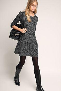 Esprit - Jersey-Stretch-Kleid im Melange-Look im Online Shop kaufen Fall Winter Outfits, Winter Dresses, Autumn Winter Fashion, Spring Outfits, Tight Dresses, Nice Dresses, Oufits Casual, Tights Outfit, Urban Chic