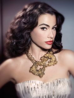 Sofía Vergara posing as Maria Felix in a 2010 issue of People En Español