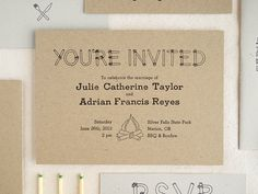 by the campfire plantable wedding weddings and unique wedding invitation - Camping Wedding Invitations