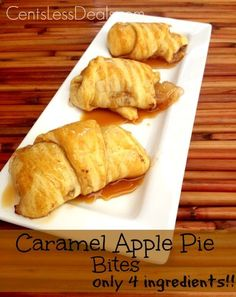 Caramel Apple Pie Bites with only 4 ingredients!