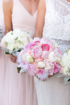 Bouquet with Peonies and Feathers | photography by http://heathercookelliott.com/blog/