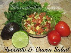 #LowCarb Avocado and Bacon Salad