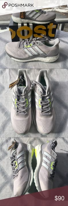 b4b4ba9b1 Shop Women s adidas Gray Green size 10 Sneakers at a discounted price at  Poshmark. Description  New With Box.