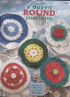 A Dozen Round Dishcloths Crochet Pattern Book by TheHowlingHag, $9.95
