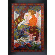 Paul-Elie Ranson 'Foxgloves' Hand Painted Framed Art