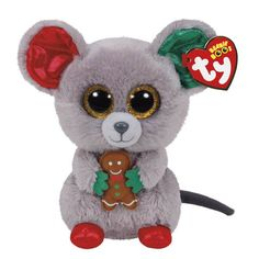 Ty's Mac the Mouse Beanie Boo's Regular Plush Toy