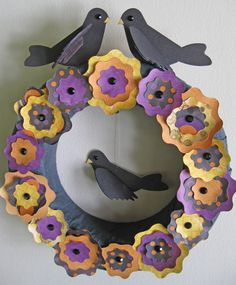 Sizzix Halloween wreath tutorial