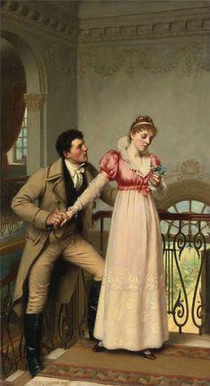 ballerina67: Yes or No by Edmond Blair Leighton - AQUA