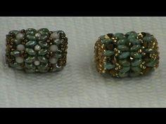 TUTORIAL bracciale con PANDORA di Superduo e Swarovski   Beaded bead bracelet TUTORIAL - YouTube