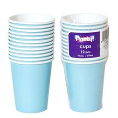 Light Blue Paper Party Cups, 9-oz., 12-ct. Pack
