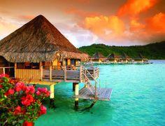 10 DAYS IN TAHITI & BORA BORA - True Romantic Escape! Bora Bora is a gorgeous small volcanic island in the Pacific Ocean in French Polynesia. Bora Bora's boundless beauty attracts many touris. Vacation Places, Honeymoon Destinations, Dream Vacations, Places To Travel, Places To See, Honeymoon Spots, Fiji Honeymoon, Honeymoon Ideas, Italy Vacation