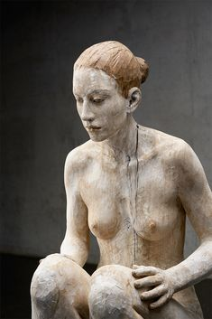 "the–elusive–muse: "" #Bruno Walpoth (via) 2017 Sitting woman, nut wood. #Sculpture """