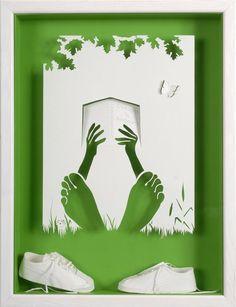 Amazing Paper Cutting Art by a French Artist Kirigami, Art Carte, Paper Artist, 3d Paper Art, Cardboard Art, Paper Clay, Art Reproductions, Paper Cutting, Diorama