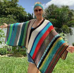 Boho Poncho Boho Poncho One of a Kind Poncho Off the Boho Crochet Patterns, Pull Crochet, Crochet Vest Pattern, Crochet Poncho Patterns, Tunic Pattern, Crochet Shawl, Crochet Top, Top Pattern, Crochet Cardigan