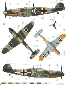 Bf 109G-2 JG 54 Color Profile and Paint Guide Added: