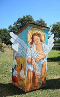 Shangrala's Texas Outhouse Art!