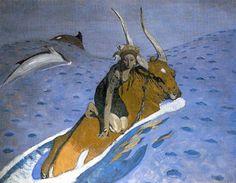 "V. Serov. ""El rapto de Europa"". 1910,"
