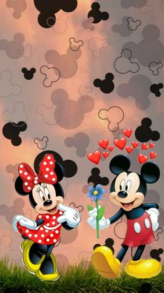 Cute Galaxy Wallpaper, Cute Disney Wallpaper, Wallpaper Iphone Cute, Cute Cartoon Wallpapers, Happy Birthday Mickey Mouse, Mickey Mouse And Friends, Mickey Minnie Mouse, Mickey Mouse Pictures, Minnie Mouse Pictures